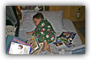 Brady books sleeping