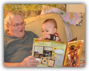 Dad and Brady reading
